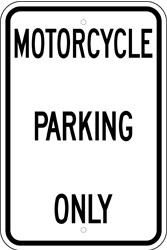 "Image logo for 12"" x 18"" x 0.080 Aluminum Sign: MOTORCYCLE PARKING ONLY"