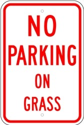 "Image logo for 12"" x 18"" x 0.080 Aluminum Sign: NO PARKING ON GRASS"