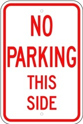 "Image logo for 12"" x 18"" x 0.080 Aluminum Sign: NO PARKING THIS SIDE"