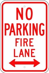 "Image logo for 12"" x 18"" x 0.080 Aluminum Sign: NO PARKING - FIRE LANE (with or without Arrows)"