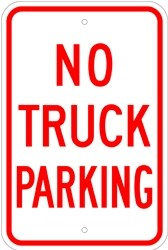 "Image logo for 12"" x 18"" x 0.080 Aluminum Sign: NO TRUCK PARKING"