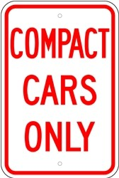 "Image logo for 12"" x 18"" x 0.080 Aluminum Sign: COMPACT CARS ONLY"