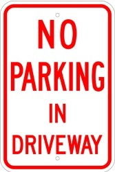 "Image logo for 12"" x 18"" x 0.080 Aluminum Sign: NO PARKING IN DRIVEWAY"