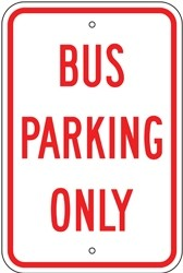 "Image logo for 12"" x 18"" x 0.080 Aluminum Sign: BUS PARKING ONLY"