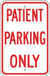 "Image logo for 12"" x 18"" x 0.080 Aluminum Sign: PATIENT PARKING ONLY"