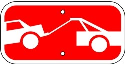 "Image logo for 12"" x 6"" x 0.080 Aluminum Sign: TOW-AWAY ZONE PLAQUE (Graphic Image)"