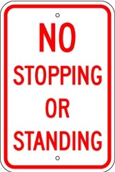 "Image logo for 12"" x 18"" x 0.080 Aluminum Sign: NO STOPPING OR STANDING"