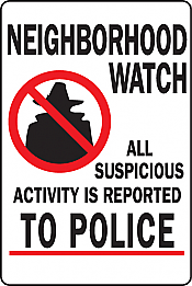 "Image logo for 12"" x 18"" x 0.040 Aluminum Sign: NEIGHBORHOOD WATCH...."