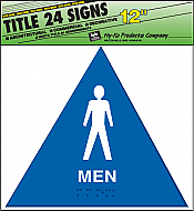 "Image logo for 12"" x 12"" TITLE 24 Braille / Tactile Sign:  MEN"