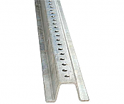 Image logo for Galvanized Posts | U-Channel - Galvanized - 2 lbs / ft