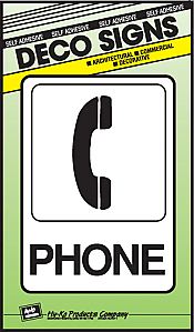 "Image logo for 5"" x 7"" DECO Sign:  PHONE"
