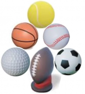 Image logo for Concrete Sphere Bollard - SPORTS THEMED