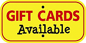 "Image logo for 12"" x 6"" x 0.080 Aluminum Sign:  GIFT CARDS AVAILABLE"