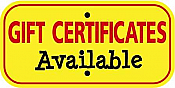 """Image logo for 12"""" x 6"""" x 0.080 Aluminum Sign:  GIFT CERTIFICATES AVAILABLE"""